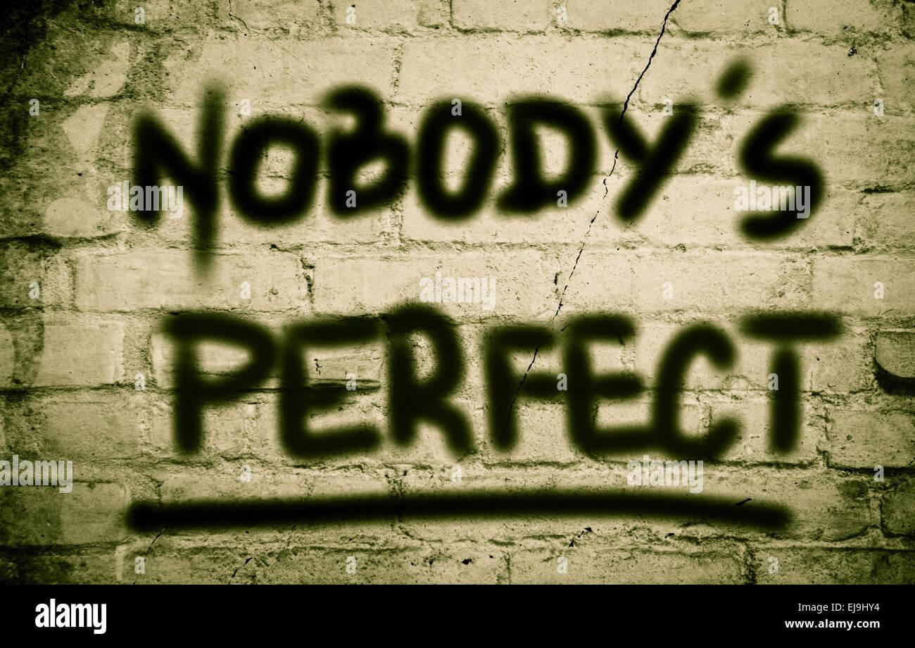 Nobody's Perfect Concept - Stock Image