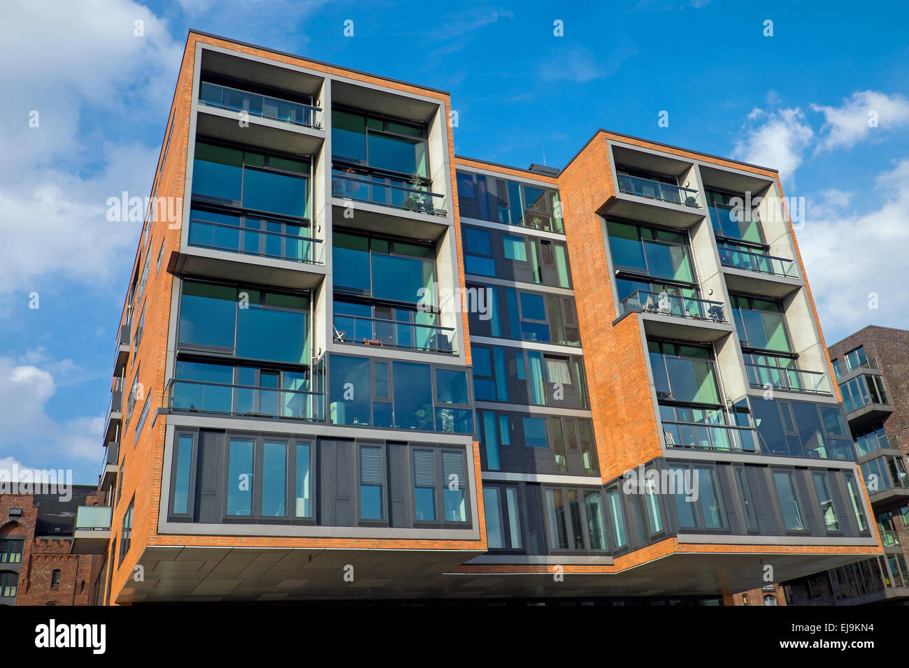 Modern condominium in the Hafencity - Stock Image