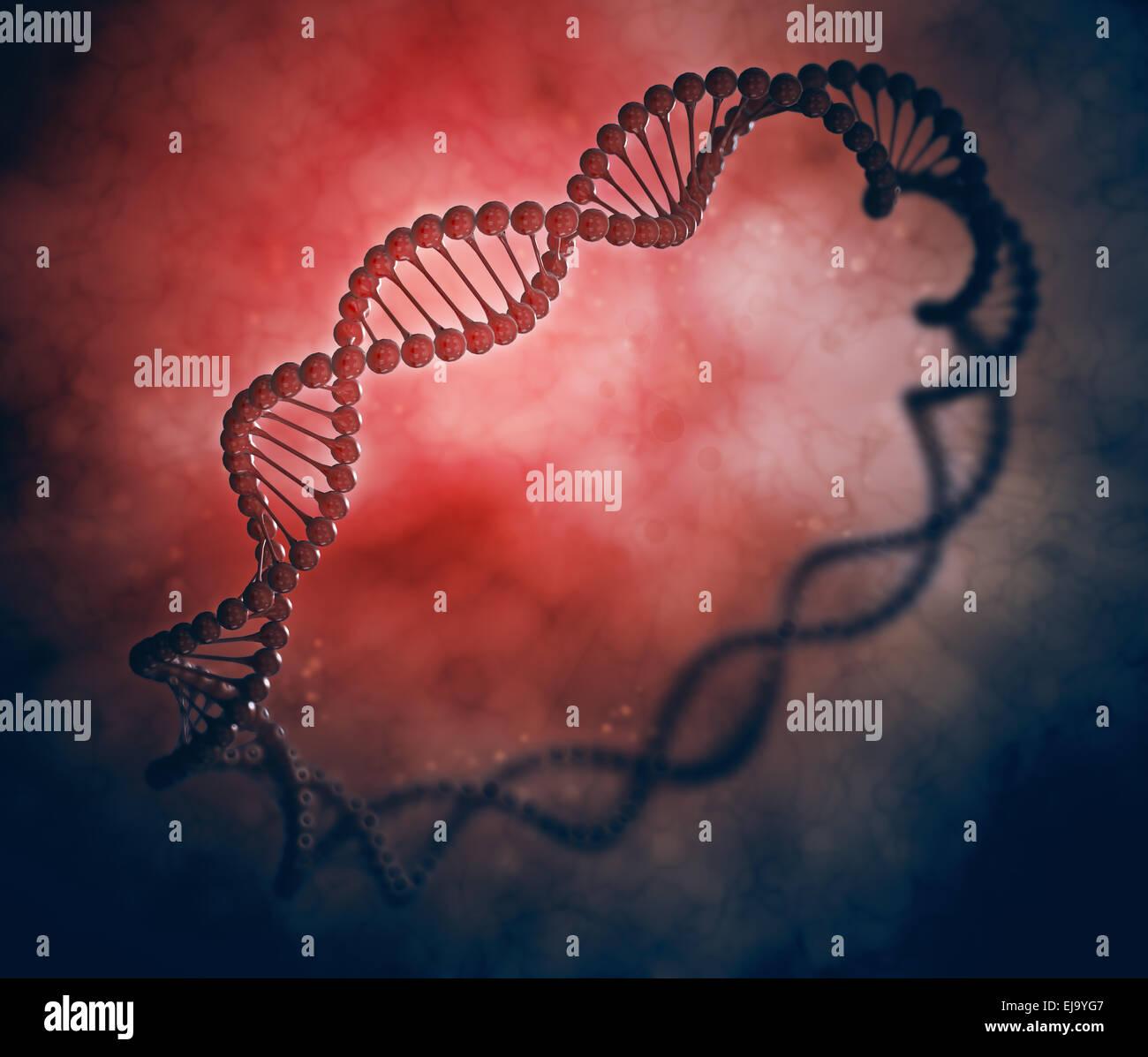 DNA ring stylized genetics illustration - Stock Image