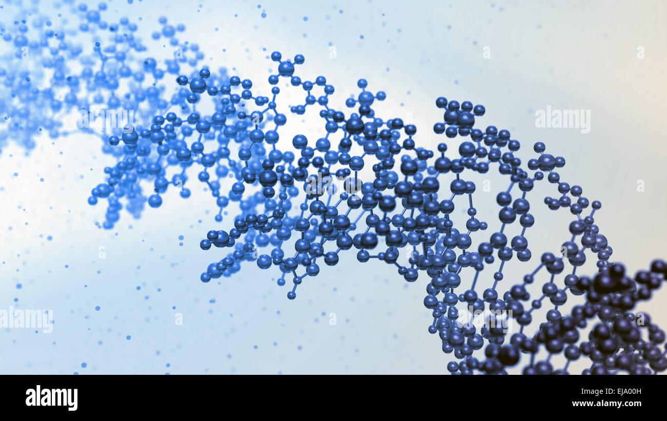 DNA strand model - genetics illustration - Stock Image