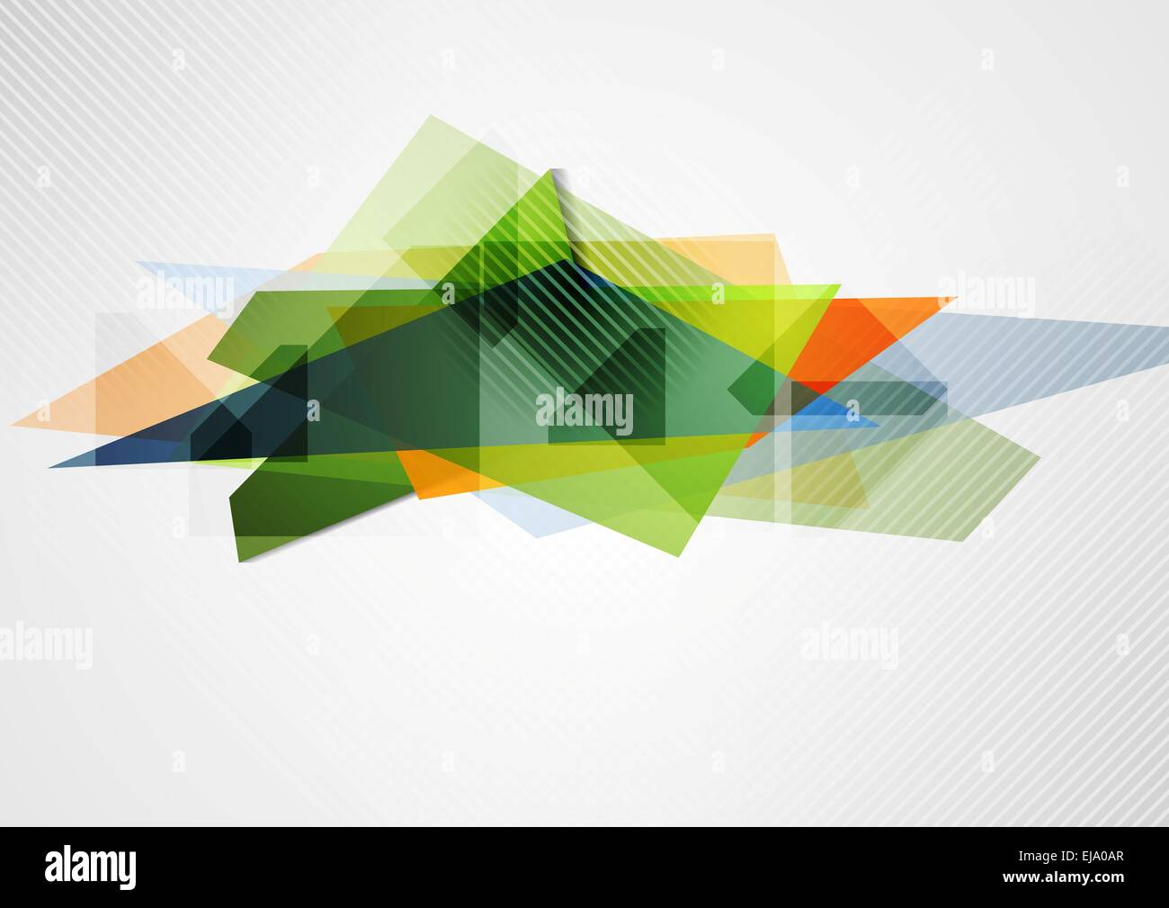 Abstract vibrant geometry shape - Stock Image
