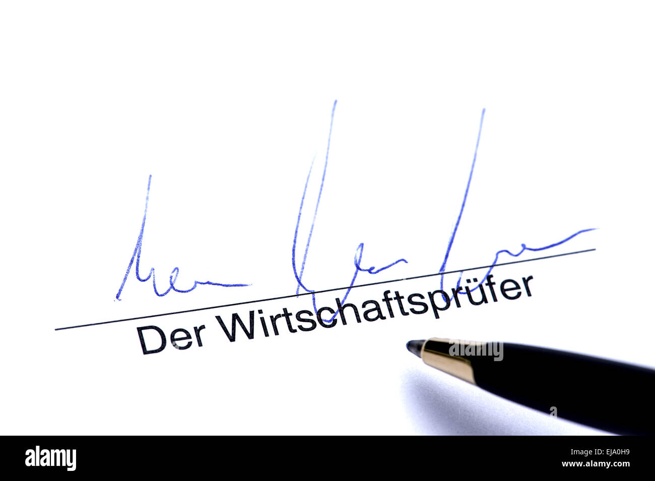Signature of Auditor - Stock Image