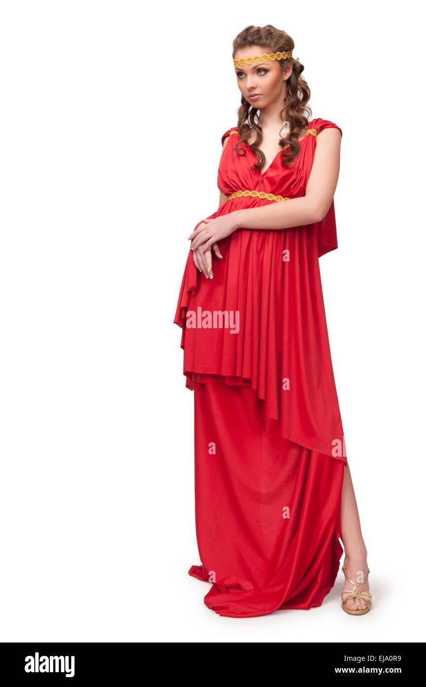 girl in the dress of the Greek goddess - Stock Image