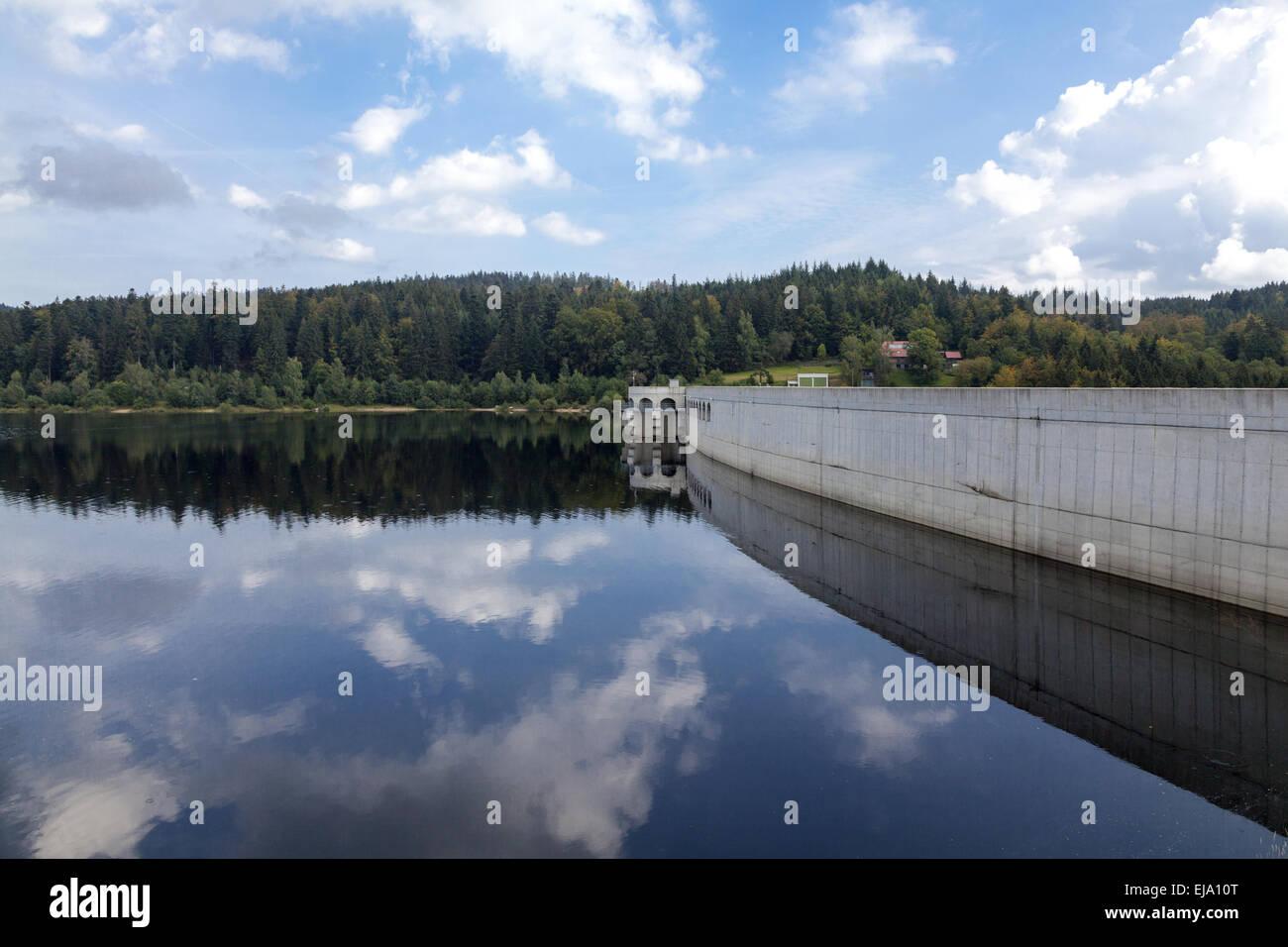 Schwarzenbach reservoir Stock Photo