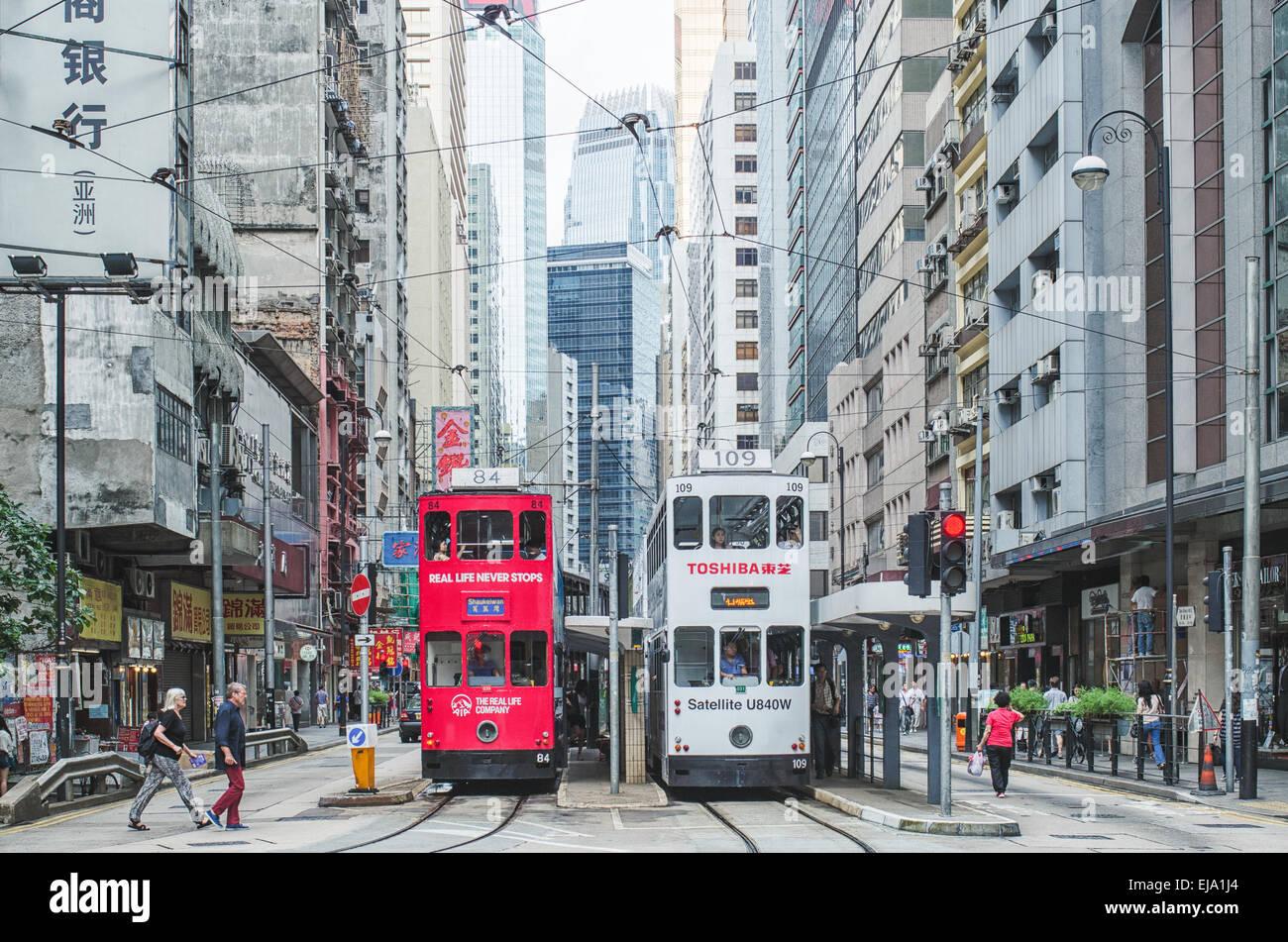 Hong Kong Sheung Wan street Stock Photo
