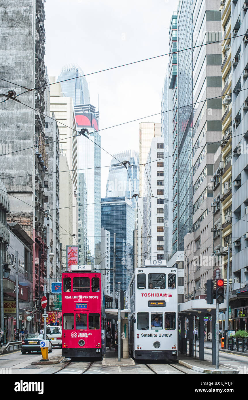 Hong Kong Sheung Wan street Stock Photo