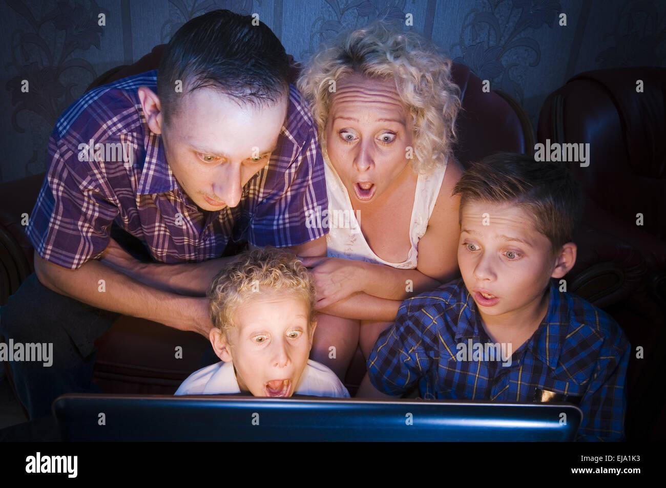 shockes familiy - Stock Image