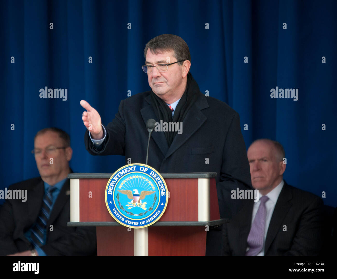 Washington, DC, USA. 23rd Mar, 2015. U.S. Defense Secretary Ashton Carter attends an event to thank service members - Stock Image