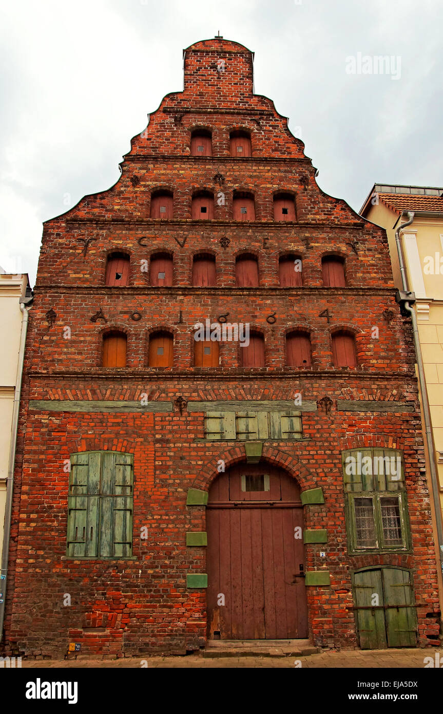 Warehouse Hanseatic City of Wismar Germany - Stock Image