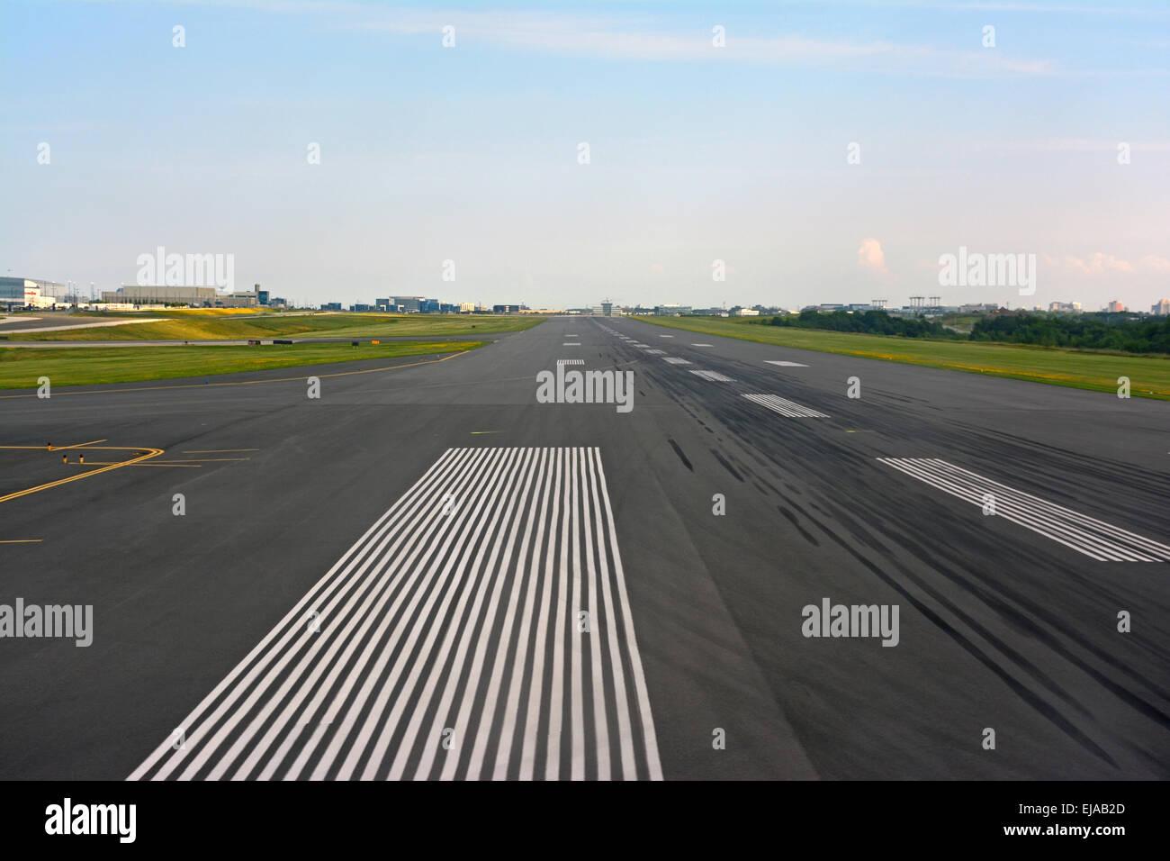 Airport Runway, Canada - Stock Image