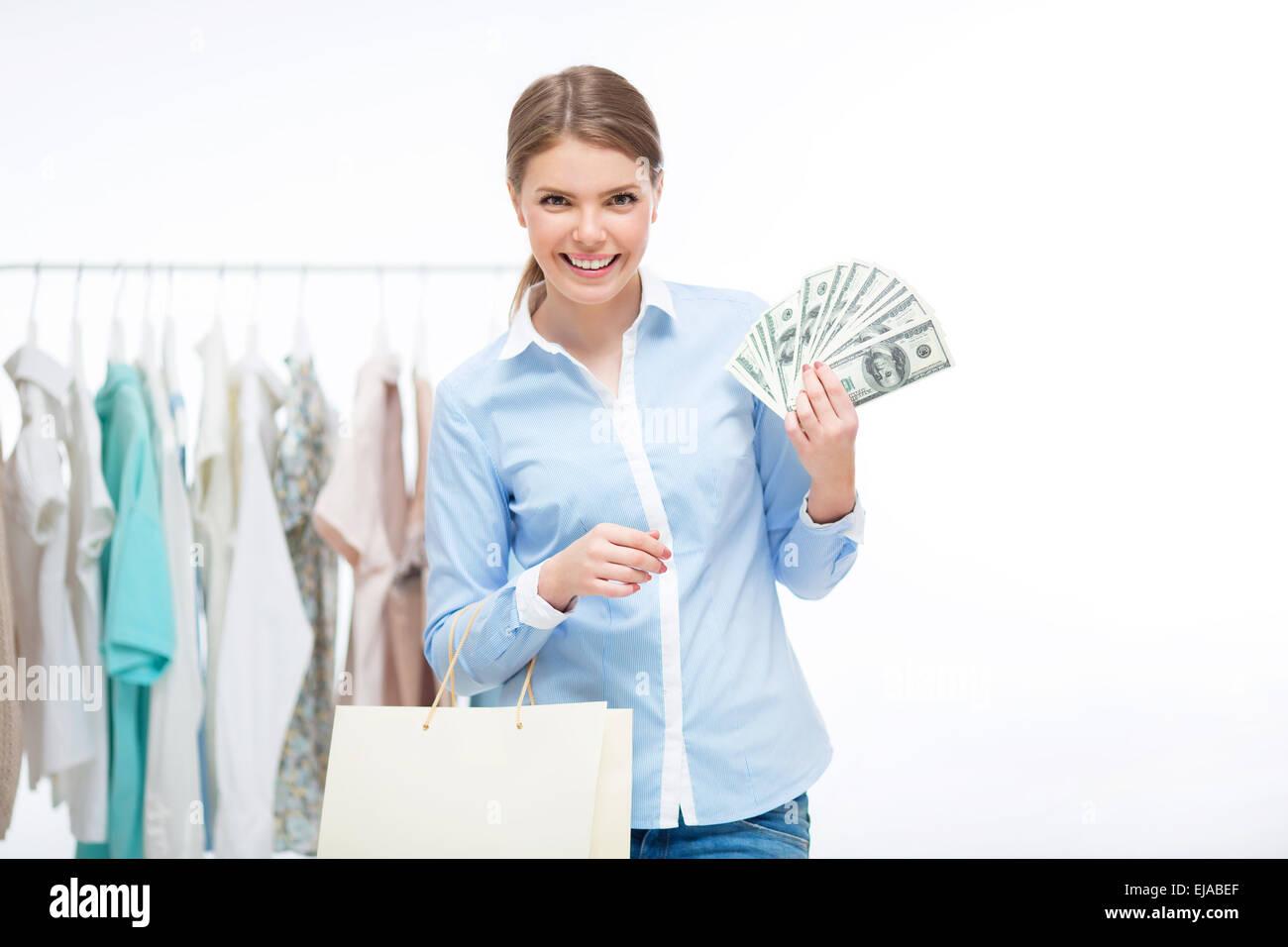 Spending money - Stock Image