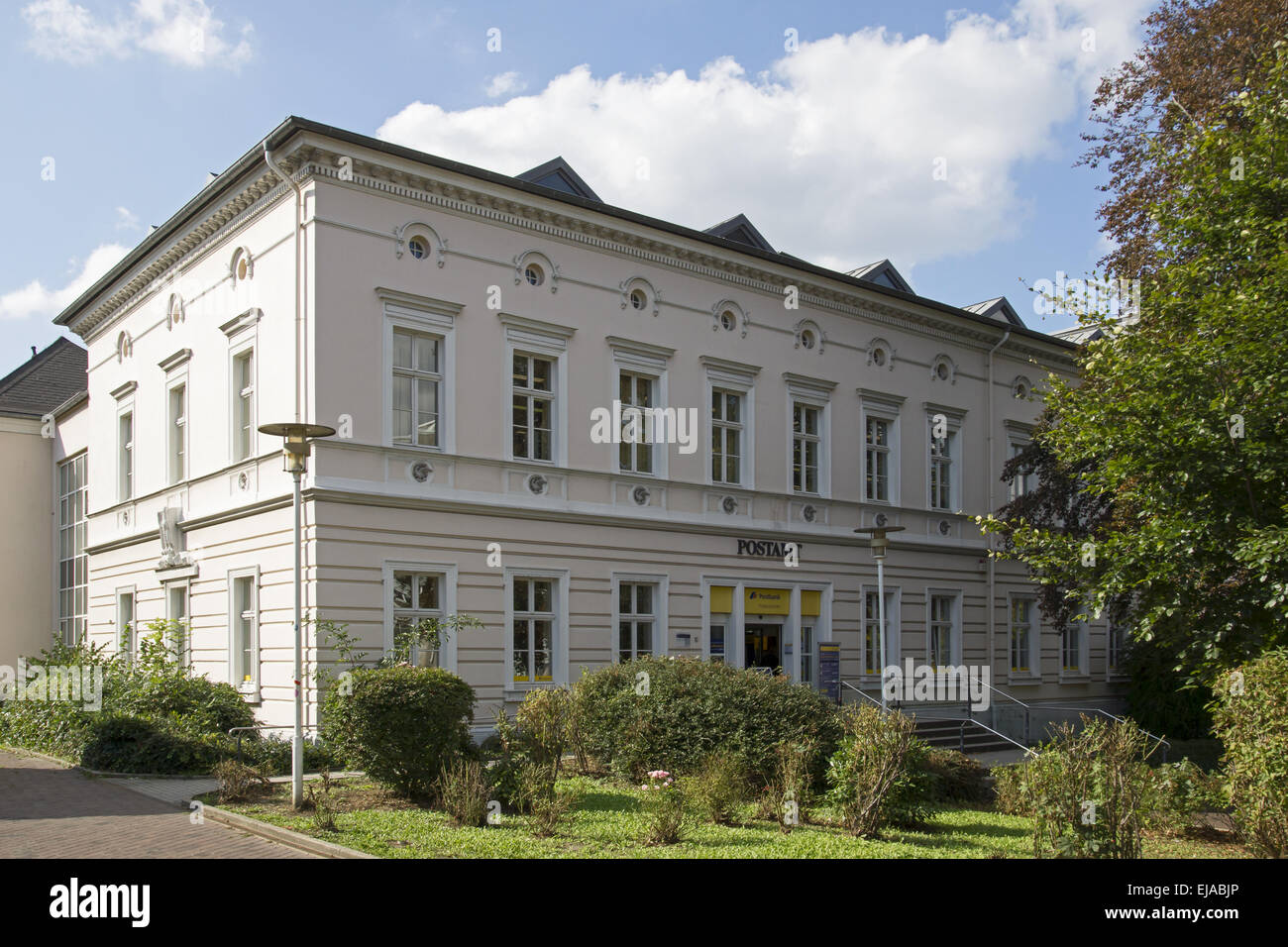 Old main postoffice in Unna, Germany - Stock Image