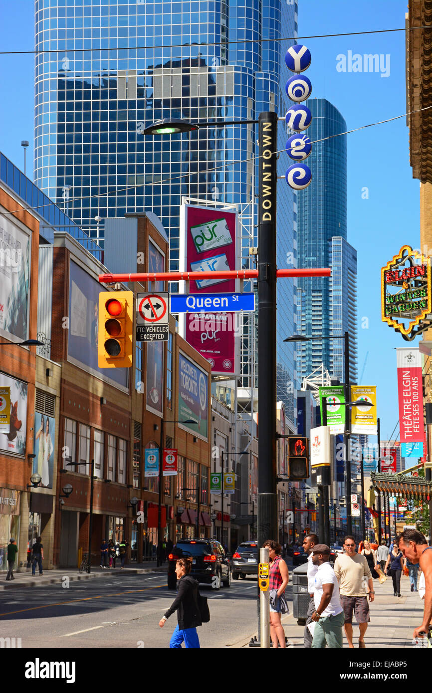 Yonge and Queen, Toronto, Canada - Stock Image