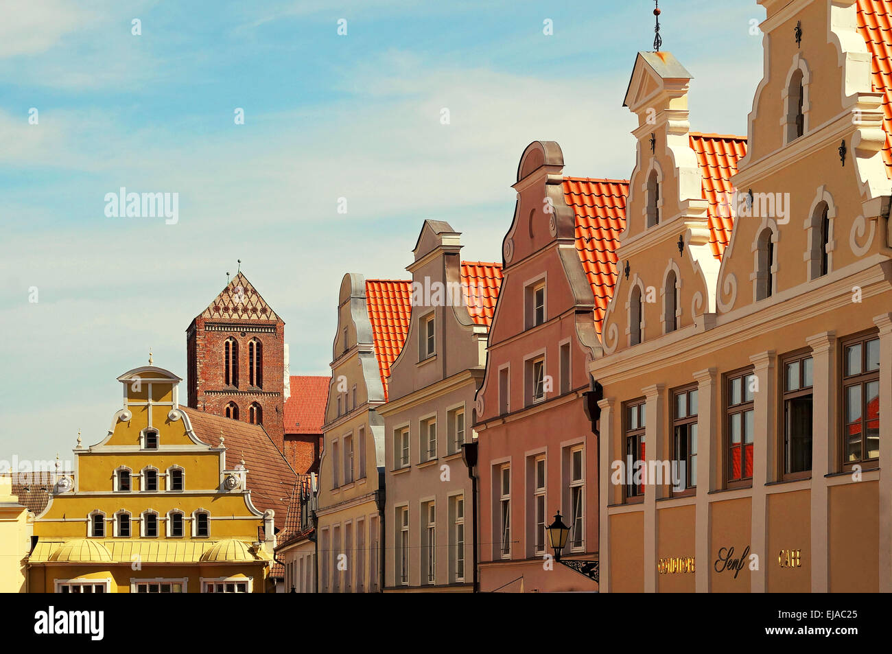 Hanseatic City Wismar Germany - Stock Image