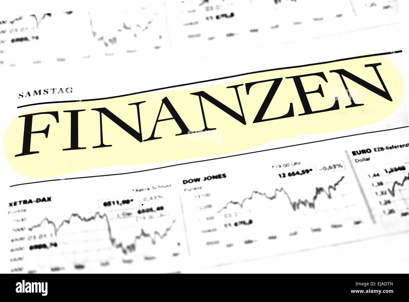 Finance Data Concept - Stock Image