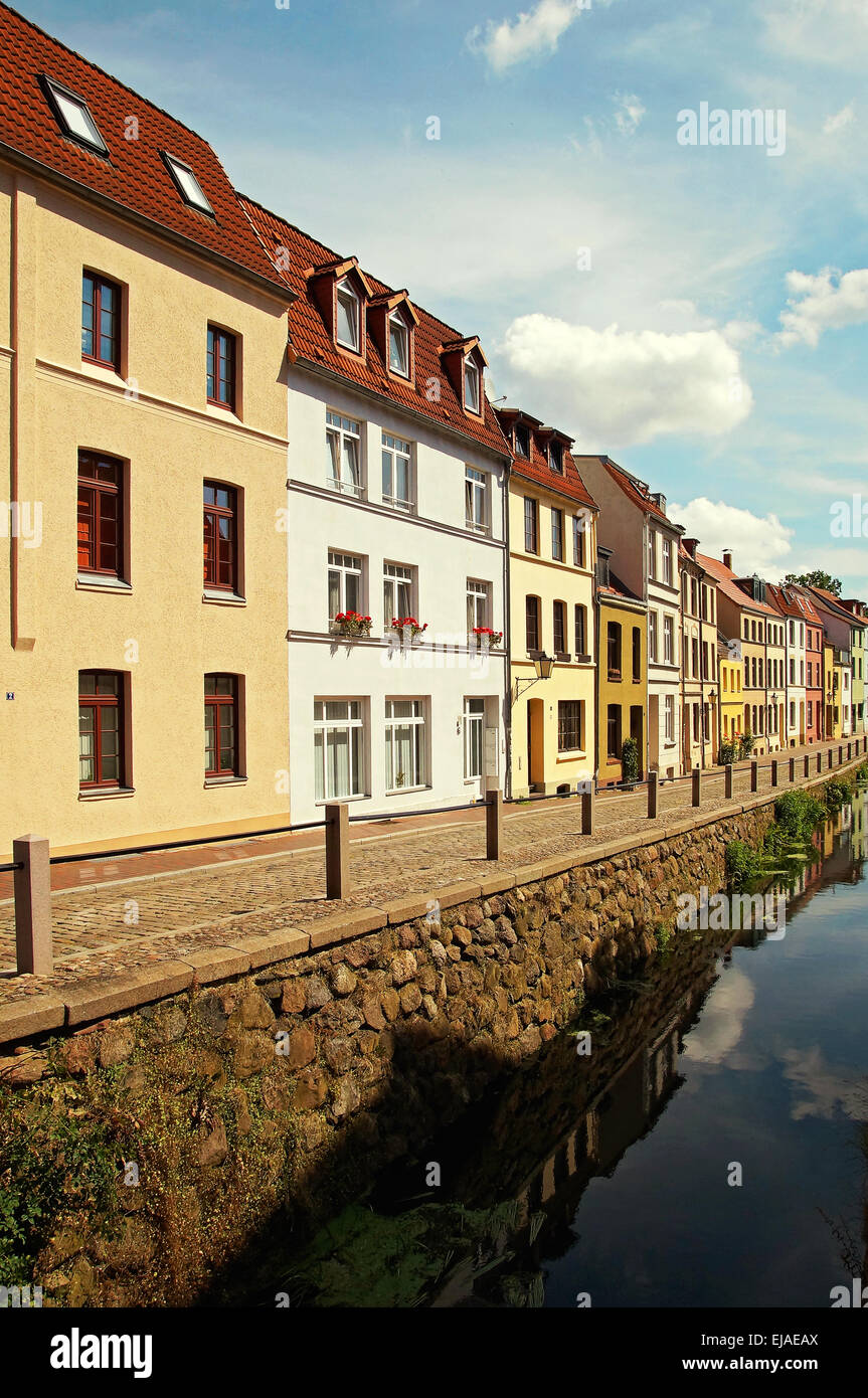 Old Apartment Building Wismar Germany - Stock Image