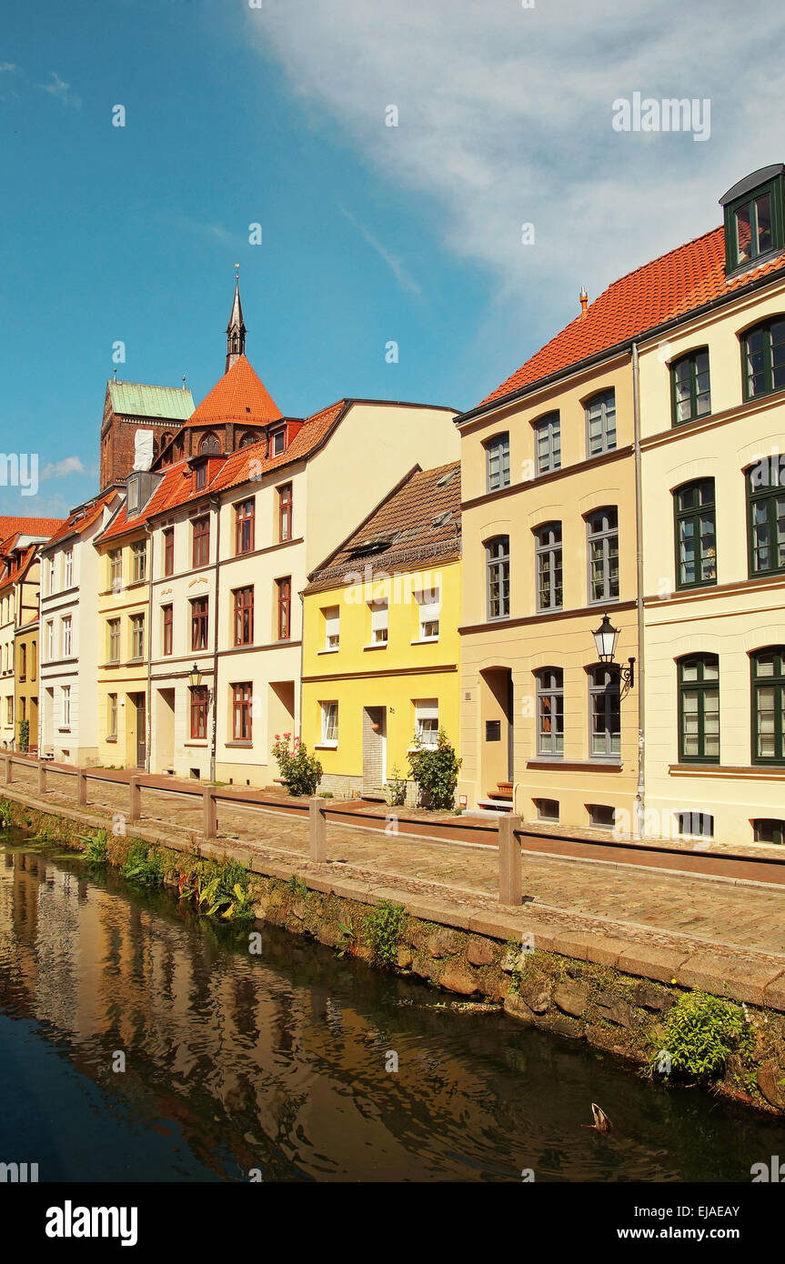 Old Apartment Building Wismar Germany Stock Photo