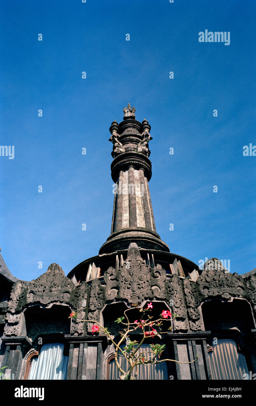 Travel Photography - The Bajra Sandhi Monument in Denpasar in Bali in Indonesia in Southeast Asia Far East. Architecture - Stock Image