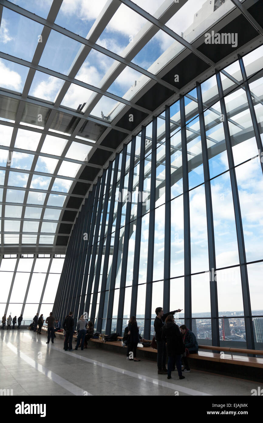 Sky Garden at the top of 20 Fenchurch Street (Walkie Talkie) in London, England - Stock Image