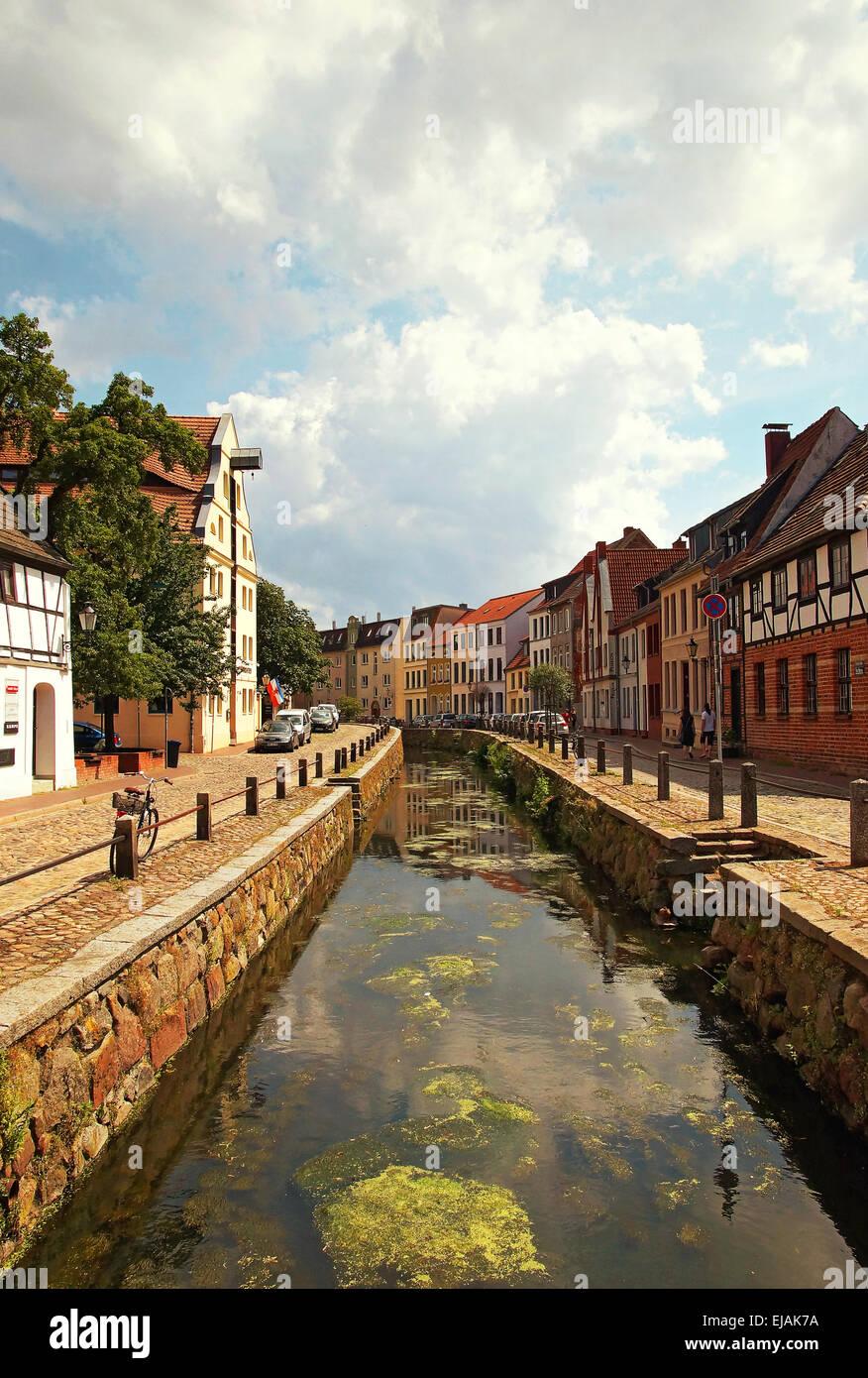 Hanseatic City Wismar Germany - Stock Image