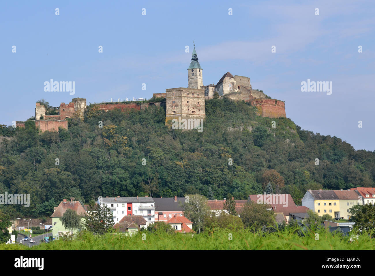 View of Castle Guessing in Burgenland - Stock Image