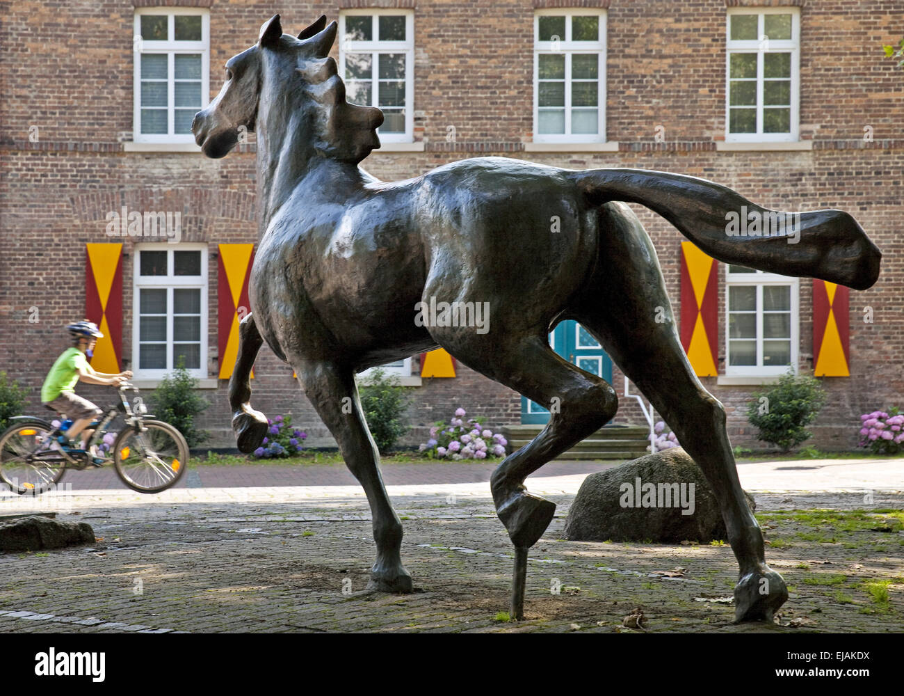 Horse sculpture, Drensteinfurt, Germany - Stock Image