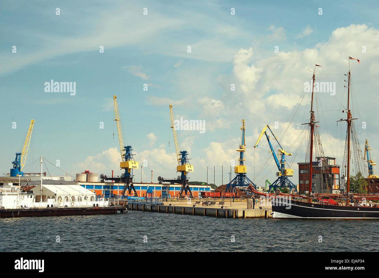 Port Hanseatic City Wismar Germany - Stock Image