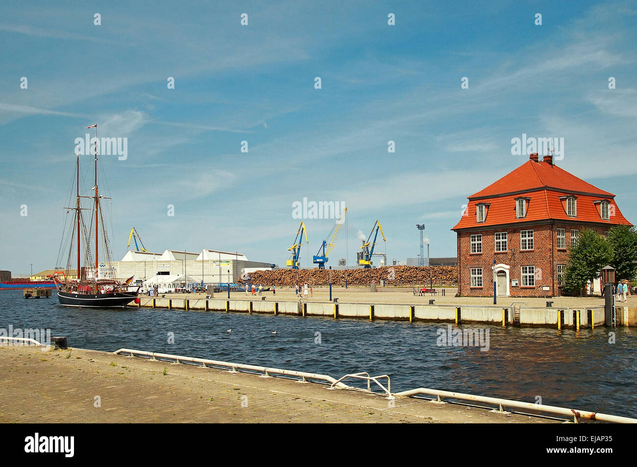 Port Hanseatic City Wismar Germany Stock Photo