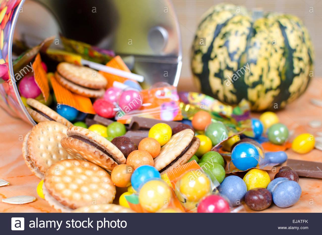 Halloween Candy - Stock Image