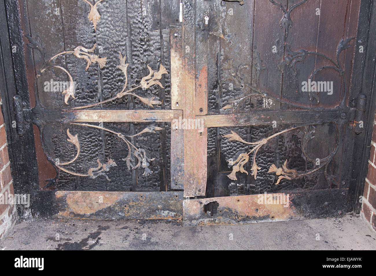 Arson Attack - Stock Image