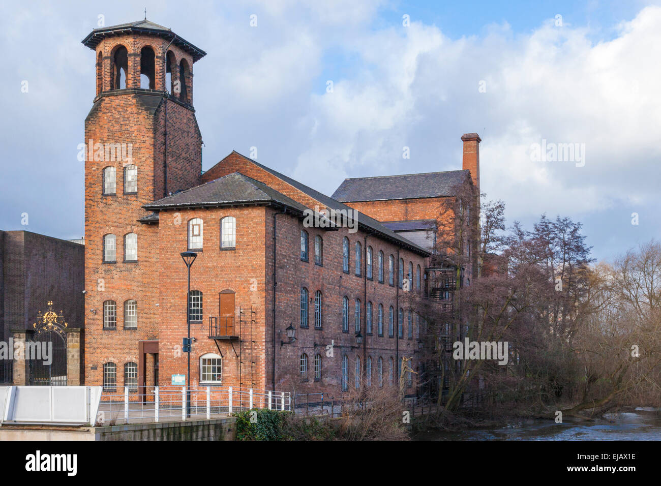Derby Silk Mill, Derby, England, UK, formerly known as Derby Industrial Museum. It is part of the Derwent Valley - Stock Image