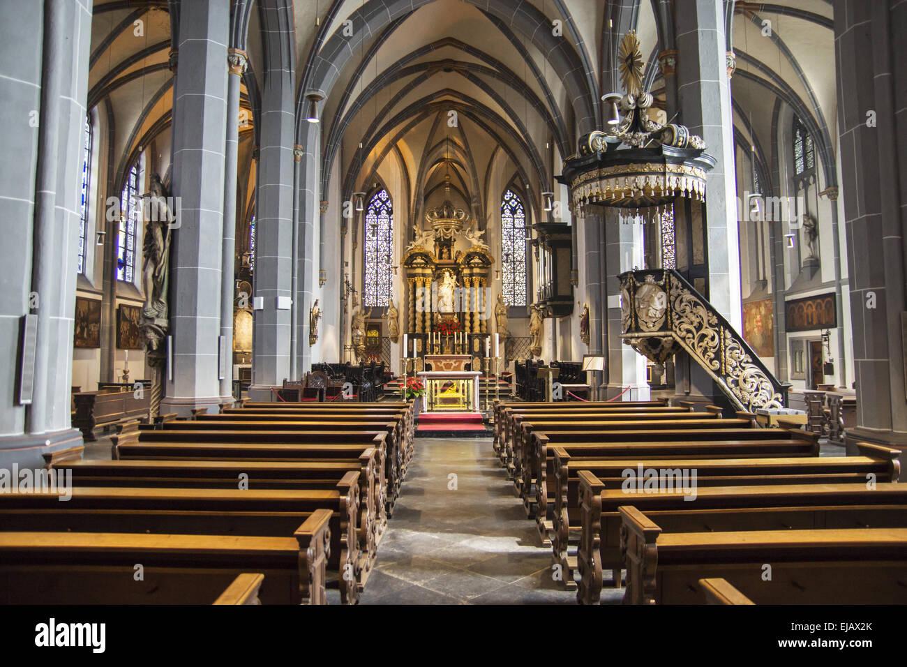 Lambertus Church in Duesseldorf, Germany - Stock Image