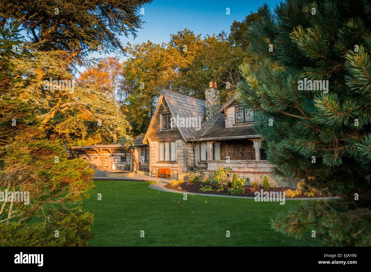 Filberg Heritage Lodge and Park, Comox, British Columbia, Canada - Stock Image