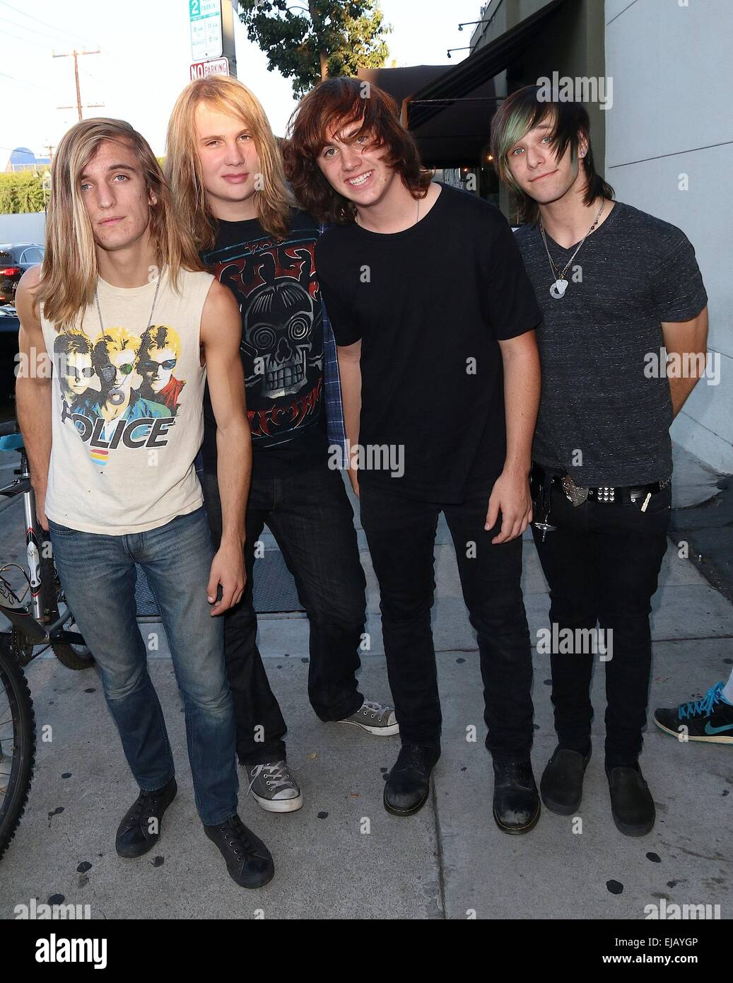 Alternative rock band Galvanized Souls out and about in West Hollywood Featuring: Matt DeMartini,Zakk Silveira,Chris - Stock Image