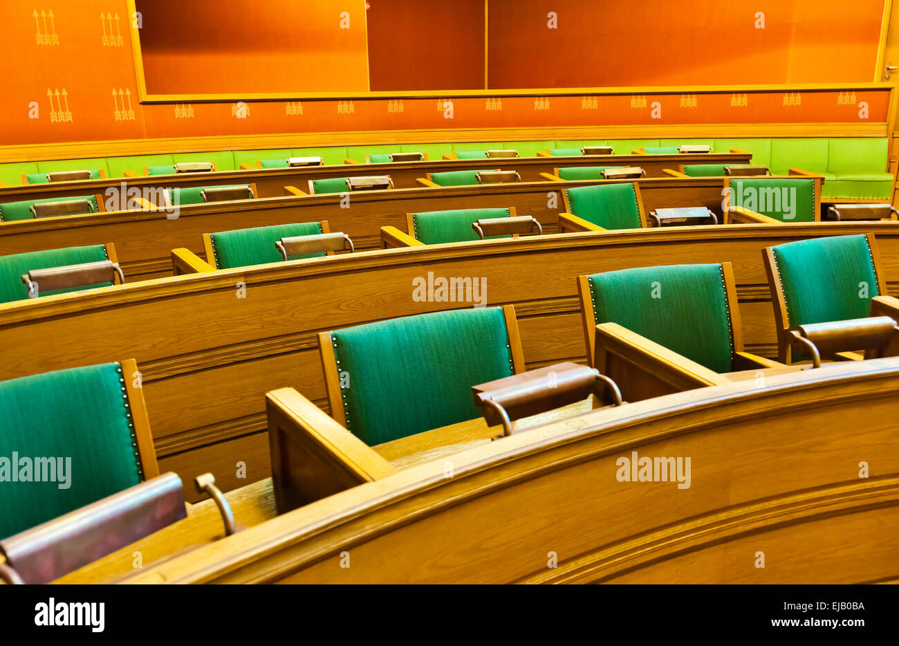Parliament in City Hall - Oslo Norway - Stock Image