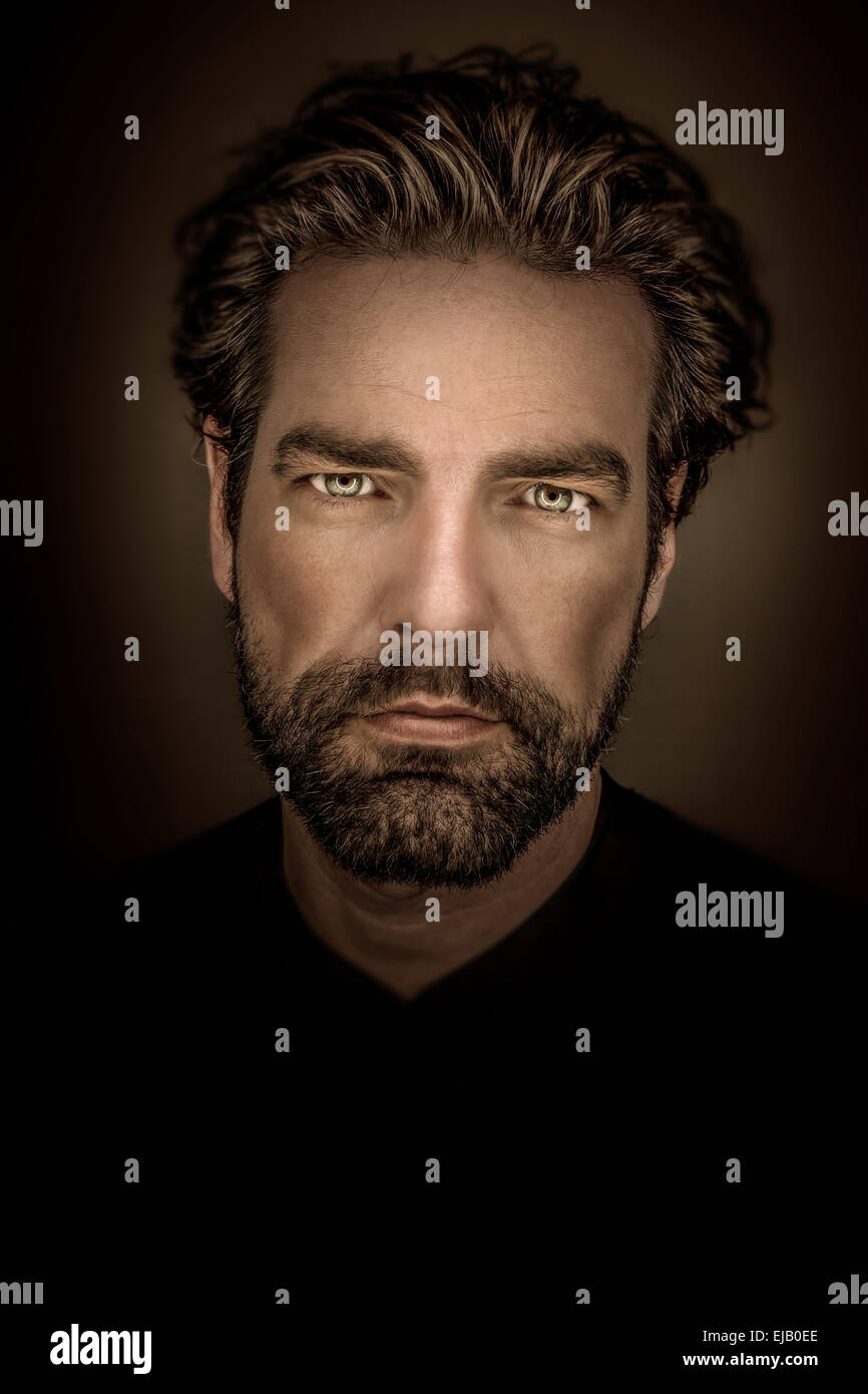 man with beard - Stock Image