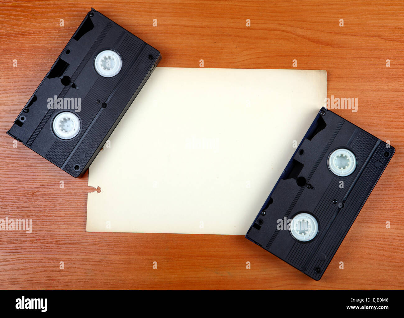 Video Tapes on the Board Stock Photo