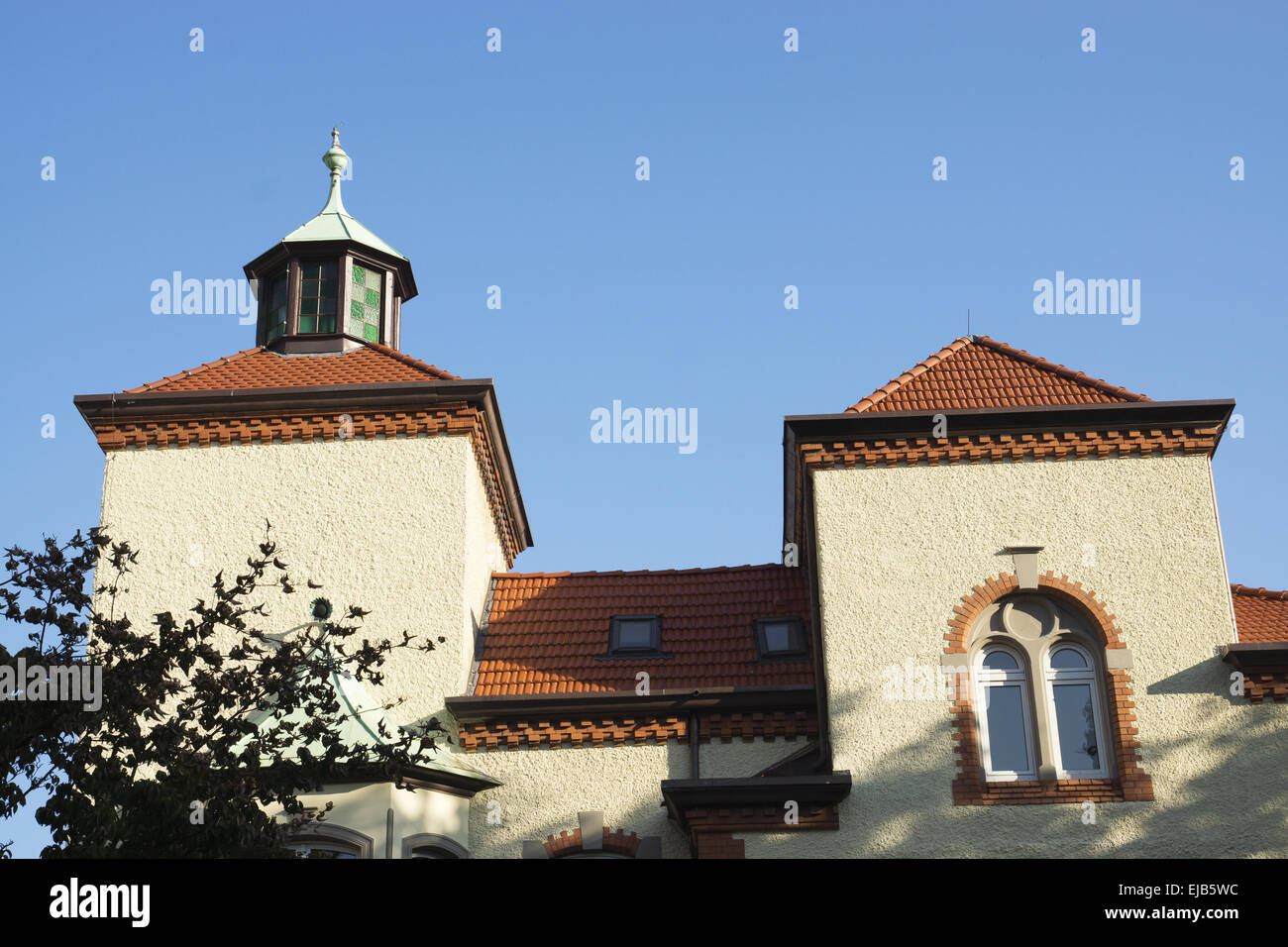 Willy-Brandt-House in Recklinghausen, Germany - Stock Image