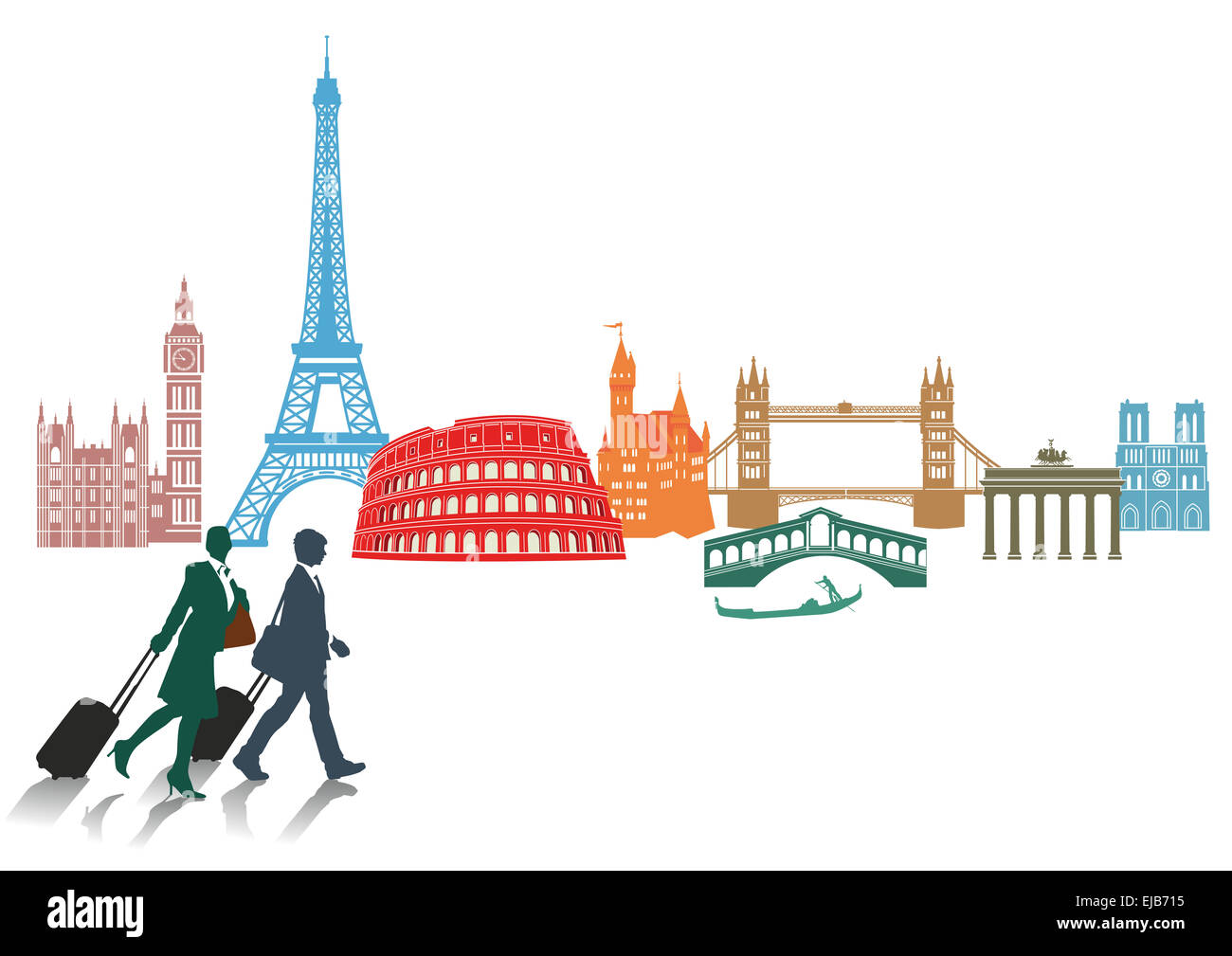 Travel and tourism in Europe - Stock Image