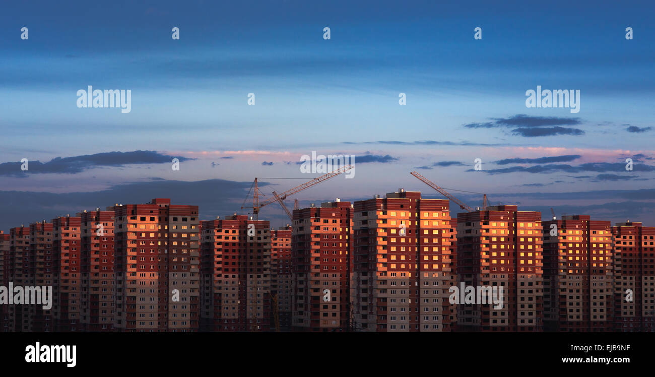 multistory houses - Stock Image