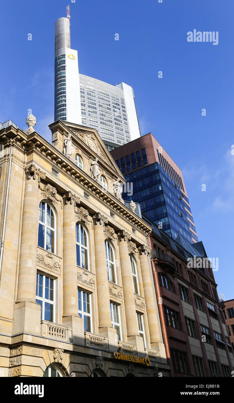 Commerzbank in Frankfurt - Stock Image