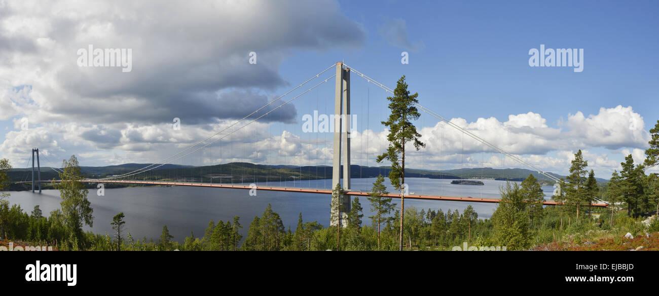 Hoega-Kusten-Bridge - Stock Image