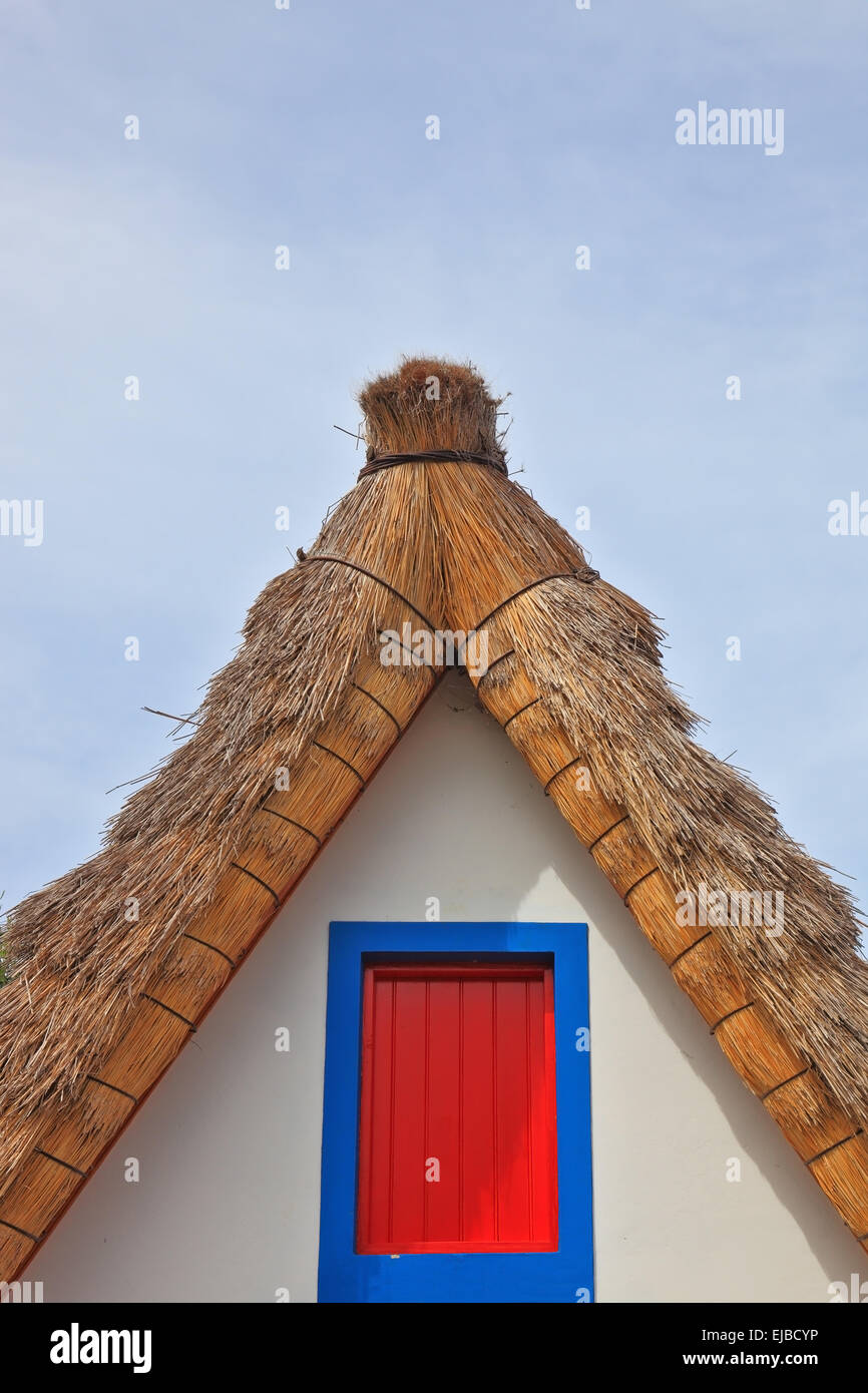 The upper part of the gable pediment - Stock Image