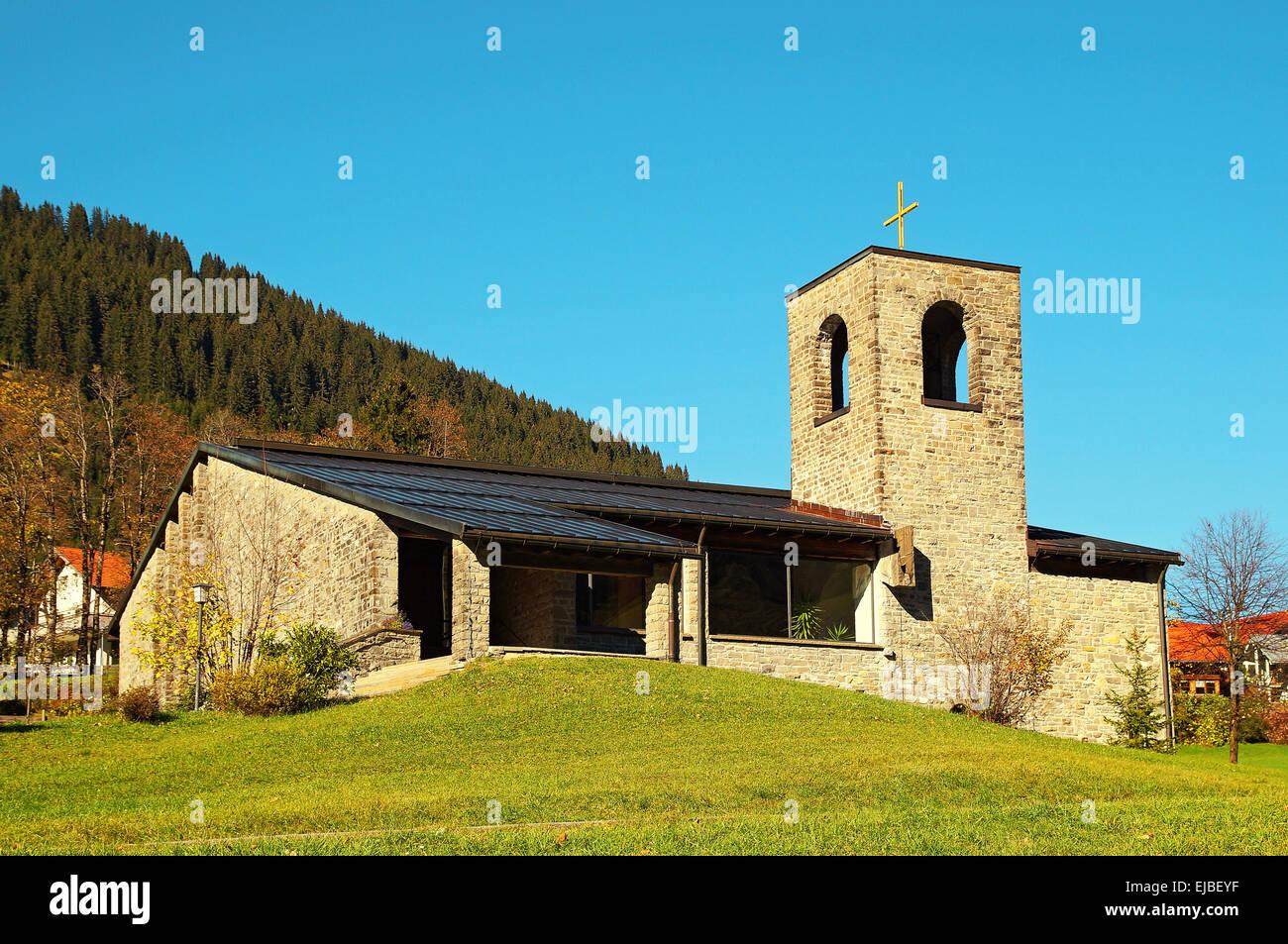 Church of Holy Spirit Oberjoch Germany Stock Photo