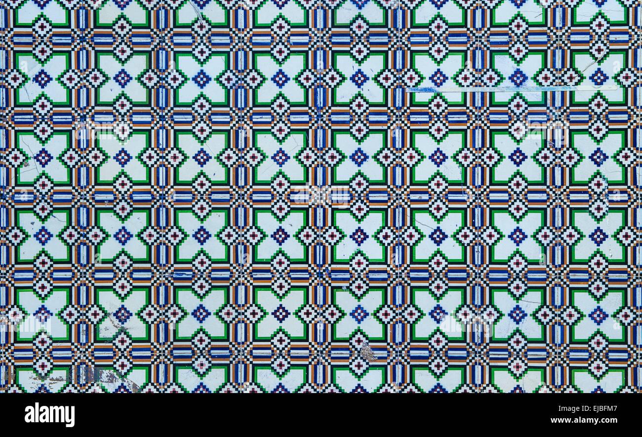 Azulejos, traditional Portuguese tiles - Stock Image
