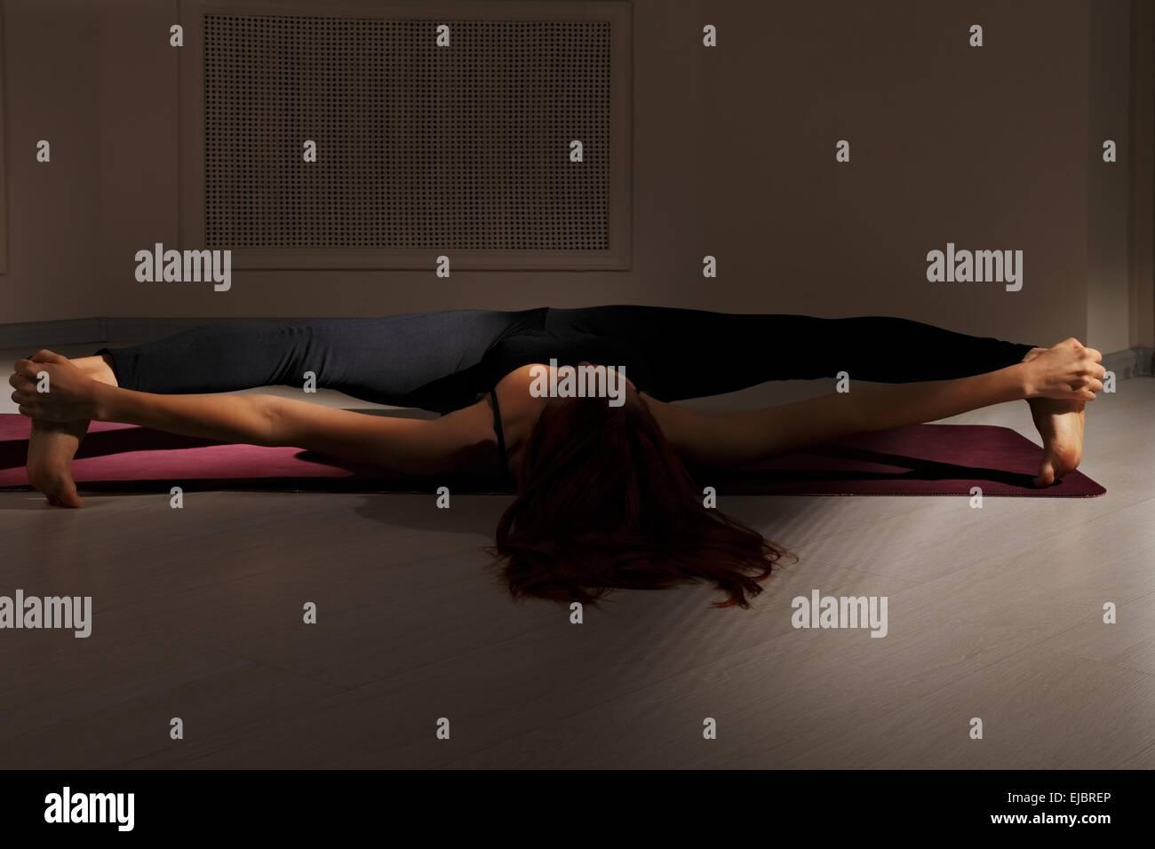 Split in darkness - Stock Image