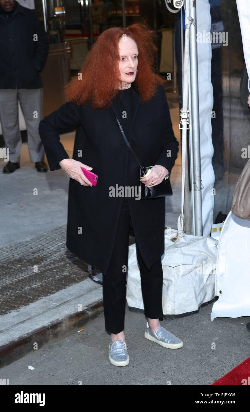 New York, NY, USA. 23rd Mar, 2015. Grace Coddington at arrivals for WHILE WE'RE YOUNG Premiere, Paris Theater, - Stock Image