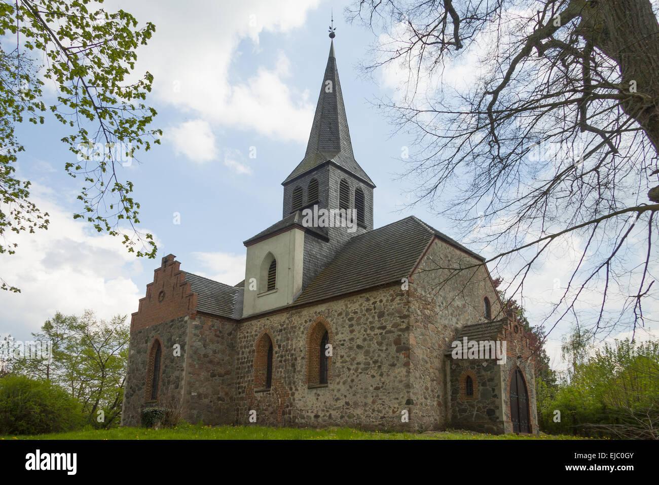 Village church Sauen - Stock Image