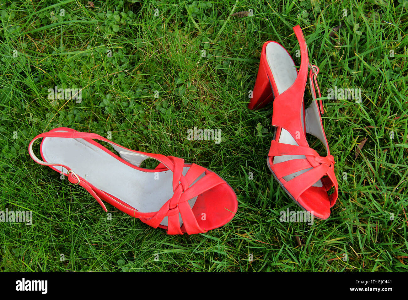 Red High Heels - Stock Image