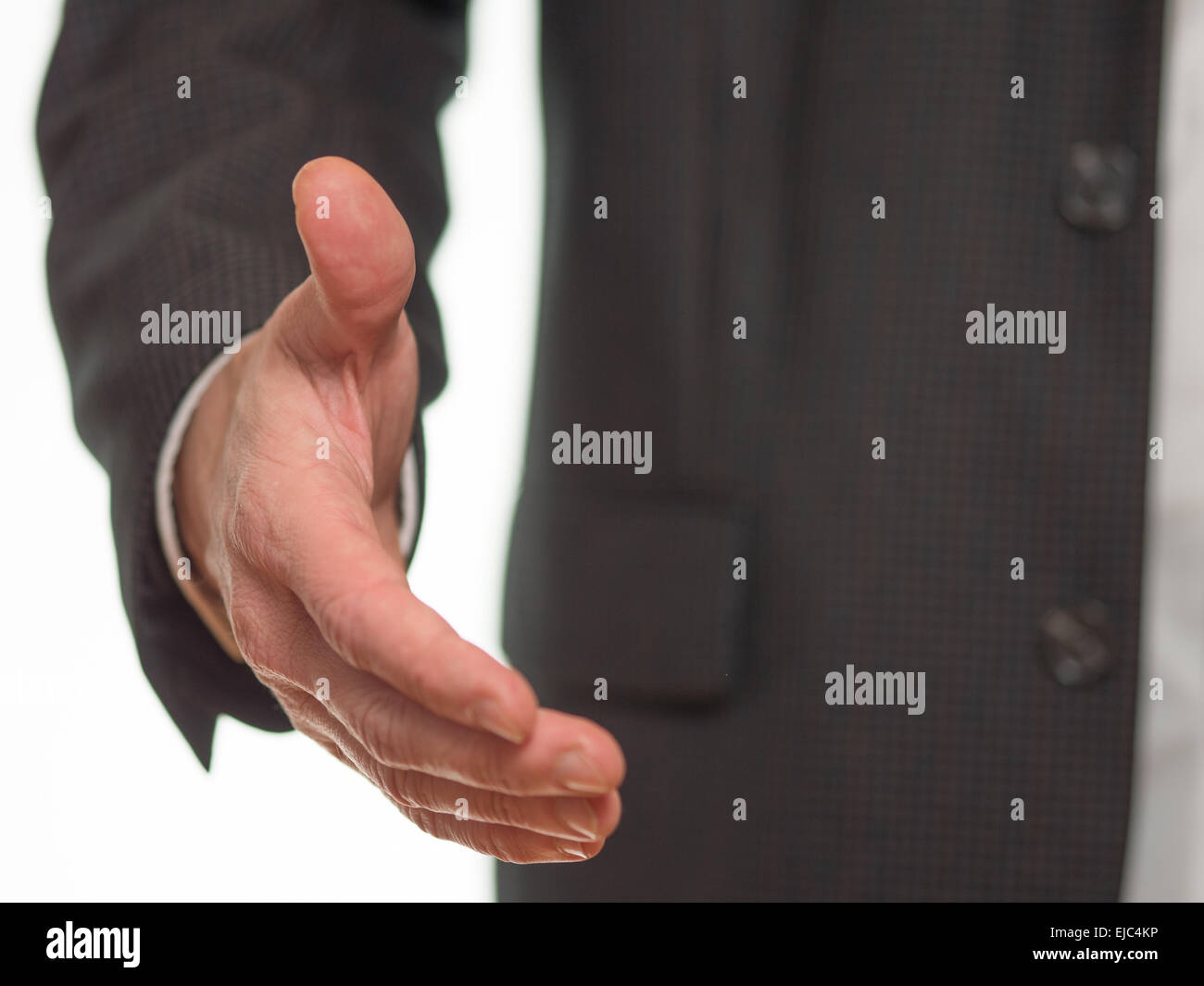 Outstretched hand to welcome Stock Photo